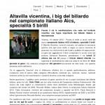 VicenzaToday Campionato di Biliardo